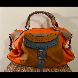Multi color handbag